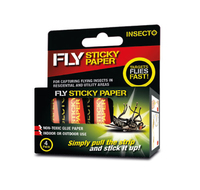 Insecto Fly Sticky Paper 4-pk x 1