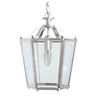1 Light Panel Lantern Satin Nickel
