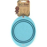Beco Silicone Collapsible Trave Bowl - Medium Blue x 1