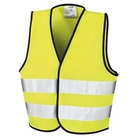 LARGE HI VIS WAIST COAT VEST DOUBLE BAND
