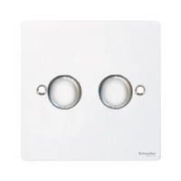 Flat Plate WHITE DIMMER  2Gang 2way| LV0701.0535