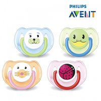 Avent Silicone Animal Twin Pack Soothers 6-18 Months