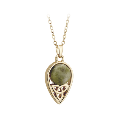 GOLD PLATED MARBLE TRINITY PENDANT