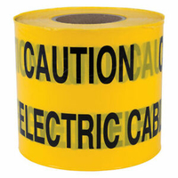 CAUTION ELECTRICAL CABLE BELOW WARNING TAPE 150MM X 365M