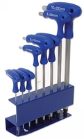 Hex Key Set T Handle Ball End 8Pieces