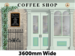 Coffee Shop Mural 3600mm