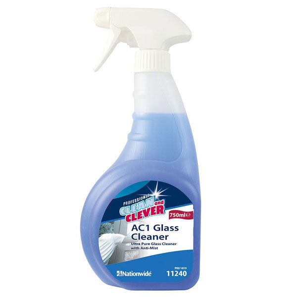 Clean and Clever AC1 Glass Cleaner Ultra Pure With Anti Mist Trigger Spray