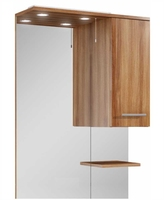 Sonas Belmont 70cm Walnut LED Mirror