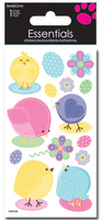 Chicks Eggs Flowers Large Essential Craft Sticker. (Priced in singles, order in multiples of 6)