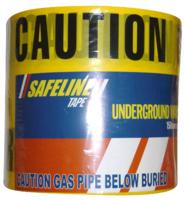 Underground Safety Tape -Gas- 365m Roll