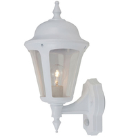 ANSELL Latina 42W E27 PIR Wall Lantern White