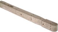 1.57m Concrete Chain Link Corner Post 100x100mm