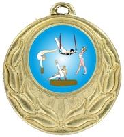 45mm Gold Zamac Wreath Medal