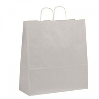 Twist Handle Carrier Bag White 450mm x 170mm x 480mm
