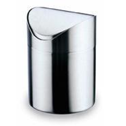 Table Waste Bin Swing Top 18/10 Stainless Steel 165mm High