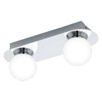 EGLO Mosiano Polished Chrome Twin Spot Wall Light LED 2x3.3w | LV1902.0033