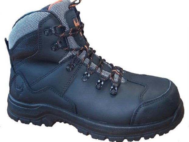 ELK Borvo Black Leather Safety Boot S3 SRC