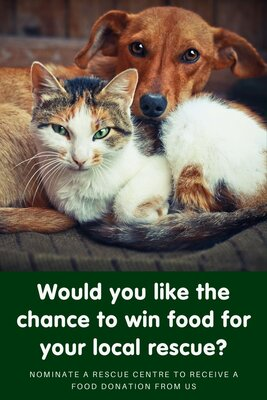 Win a food donation for your local rescue centre