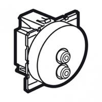 Arteor Double Rca Socket (Audio) Round - Magnesium  | LV0501.2619