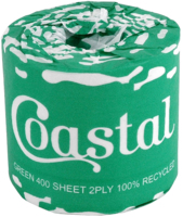 Coastal Green Recycled 400 Sheet Toilet Roll x 48 Ctn