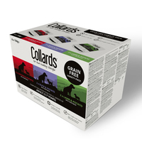 Collards Trays - Adult Dog Grain-Free Variety Box 150g 6pk x 4