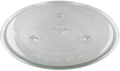Universal Microwave Turntable Glass Plate with 6 Fixers (318mm)