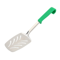 Genware Plastic Handle Slotted Turner Green
