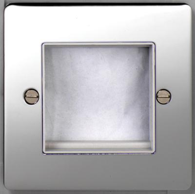 DETA Flat Plate 2 mod data plate Chrome with White Insert | LV0201.0017