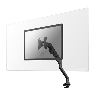 The NS-PLXPROTECT1 is a transparent screen for 1 flat screen, offering distance protection within the workspace – Transparent acrylic | PLXPROTECT by Newstar is registered as EU-Design patent |