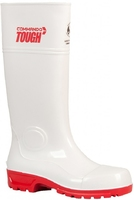 Commando Tough Safety Gumboot White/Red Sole