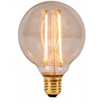 LED VINTAGE GLOBE DIMMABLE LAMP 240 VOLT 4 WATT ES 300 LUMEN 2000K 15000 HOUR