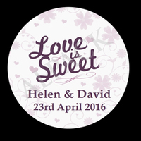 LOVE IS SWEET LABEL