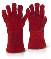 Red Welders Gauntlets