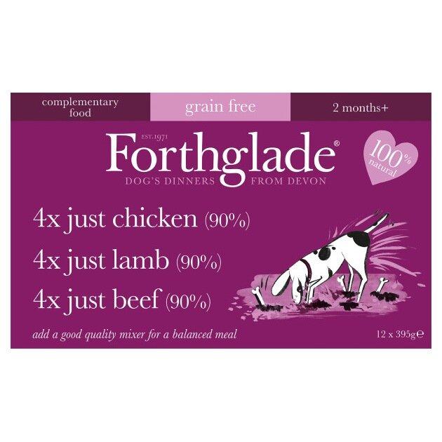 Forthglade Just Grain Free Dog Food Multicase 12 x 395g