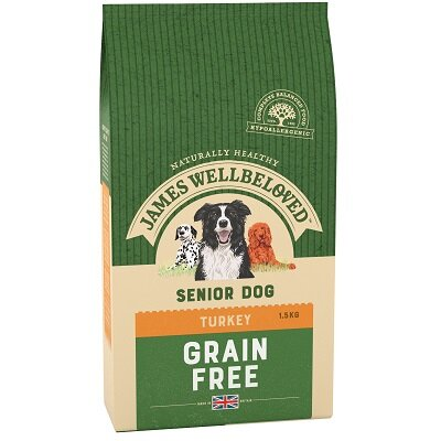 James Wellbeloved Grain Free Turkey & Vegetable Senior Dog Food 1.5kg
