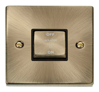 Deco Antique Brass 10A 1G 3P Switch
