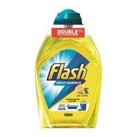 Flash Liquid Gel Cleaner Crisp Lemon 400ml