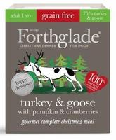 Forthglade Gourmet Dog Trays - Christmas Turkey & Goose 395g x 7