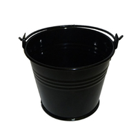 13 LTR GALVANISED BUCKET (BLACK)