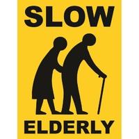 Slow Elderly Sign