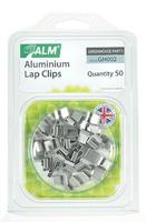 ALM Aluminium Greenhouse Lap Clips (Pack 50) - GH002