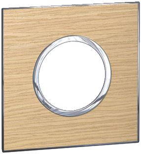 Arteor (British Standard) Plate 2 Module 1 Gang Round Light Oak | LV0501.2711