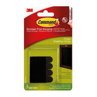 Command Black Frame Stabilizer Strips 4pk - 17208BLK