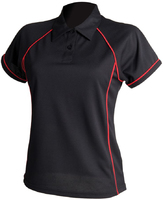 Finden Hales Ladies Performance Piped Polo Shirt 100% polyester Coolplus