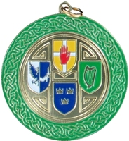 50mm Irish 4 Province Medallion (Gold)