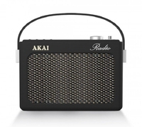 AKAI RETRO RADIO BLACK