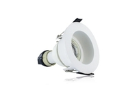 EvoFire 70mm cut-out IP65 Fire Rated Downlight Recessed White with GU10 Holder