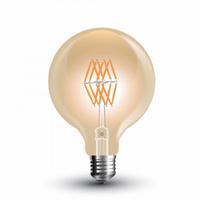 8W G95 LED Amber Filament 2200K