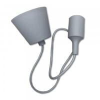 Grey Silicone Pendant