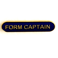 Form Captain - Bar Shaped School Badge (Blue)